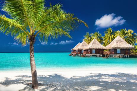 Paradisstränder på Maldiverna