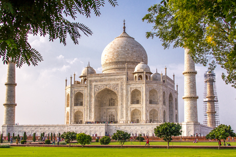 Taj Mahal i Indien, ett av världens sju underverk