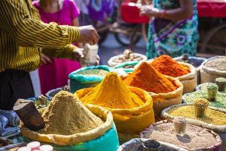 Marknad i Delhi