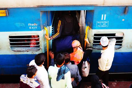 Åka tåg i Indien